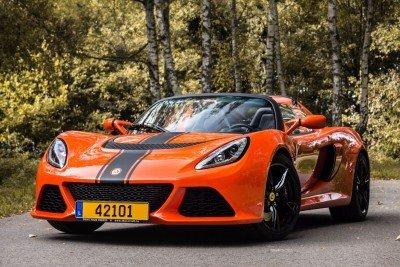 Lotus Exige S Roadster front in the woods